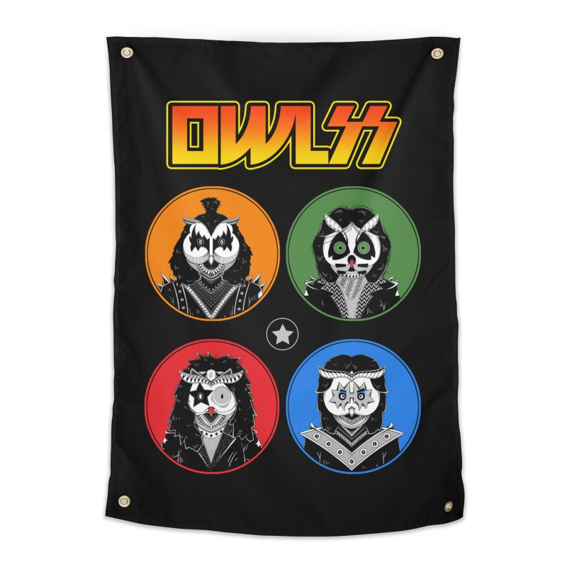 Rock and Owl All Night Home Tapestry by godzillarge's Artist Shop