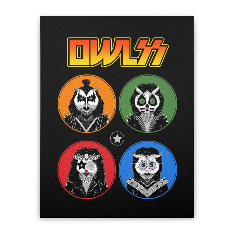 Rock and Owl All Night Home Stretched Canvas by godzillarge's Artist Shop