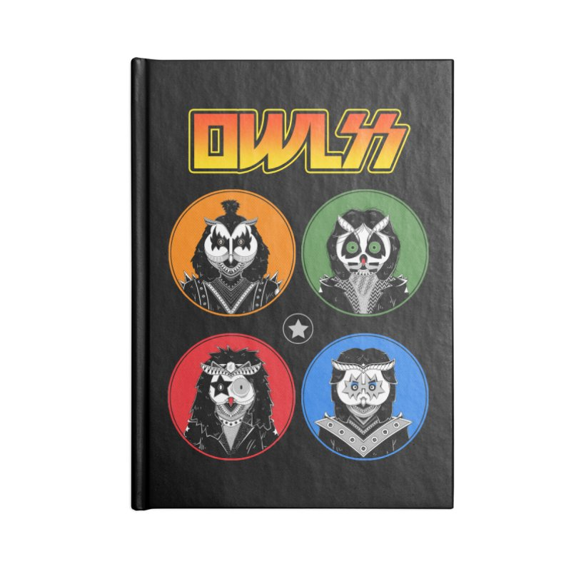 Rock and Owl All Night Accessories Notebook by godzillarge's Artist Shop