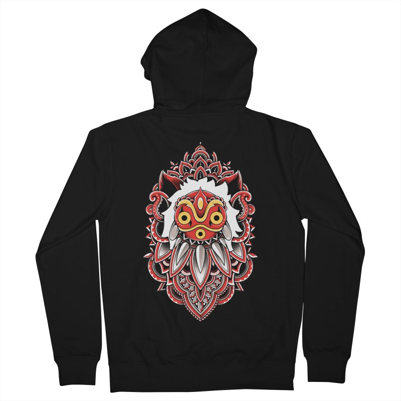 Wolf Princess Women's French Terry Zip-Up Hoody by godzillarge's Artist Shop