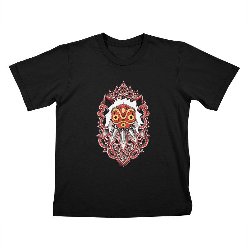 Wolf Princess Kids T-Shirt by godzillarge's Artist Shop