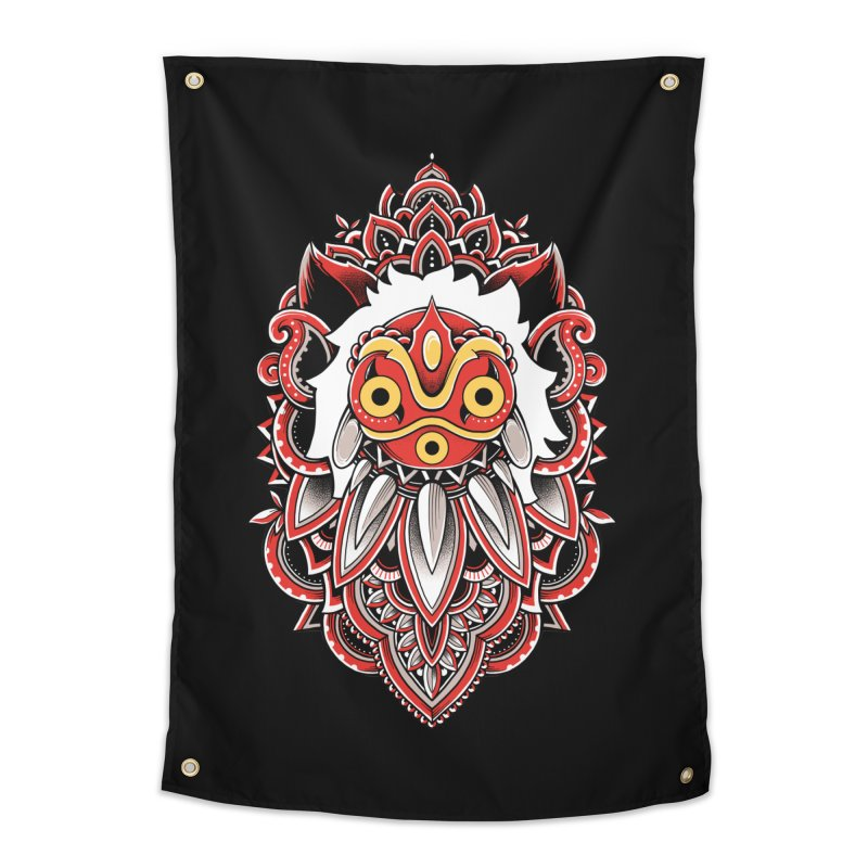 Wolf Princess Home Tapestry by godzillarge's Artist Shop