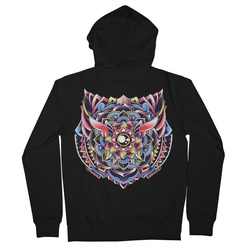 Cat Mandala Women's French Terry Zip-Up Hoody by godzillarge's Artist Shop