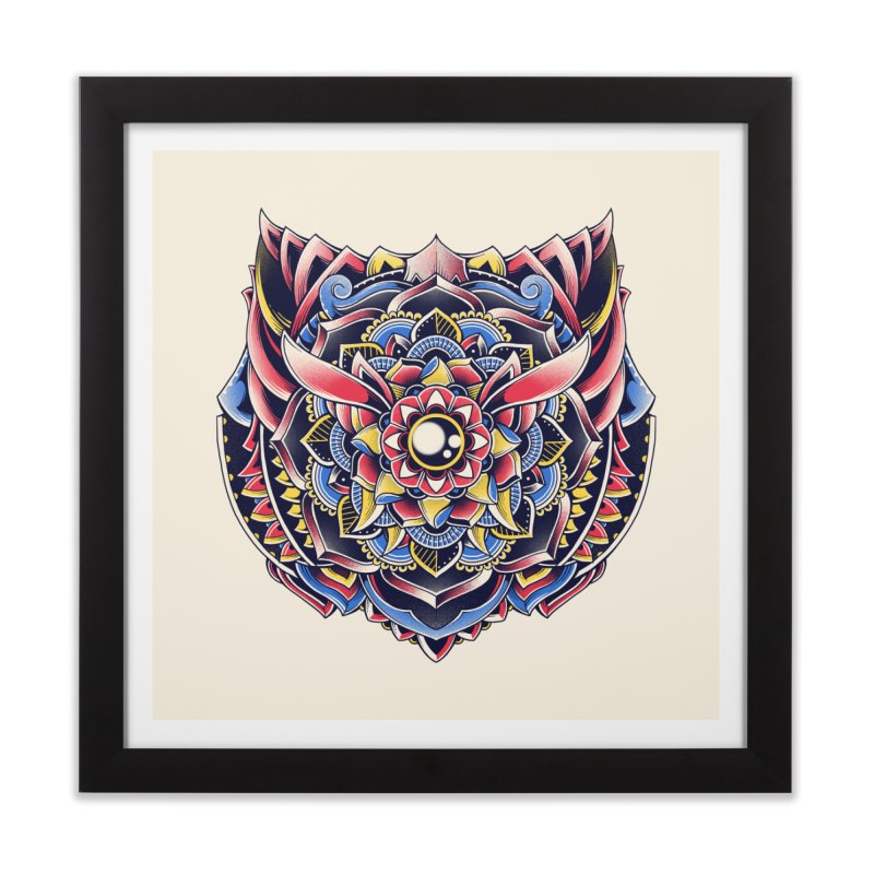 Cat Mandala Home Framed Fine Art Print by godzillarge's Artist Shop