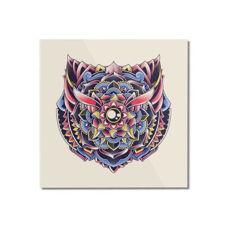 Cat Mandala Home Mounted Acrylic Print by godzillarge's Artist Shop