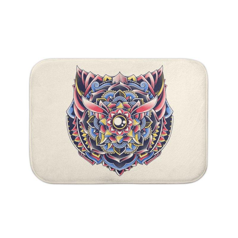 Cat Mandala Home Bath Mat by godzillarge's Artist Shop