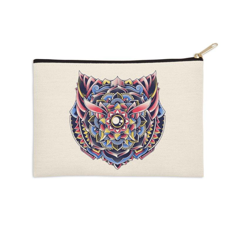 Cat Mandala Accessories Zip Pouch by godzillarge's Artist Shop