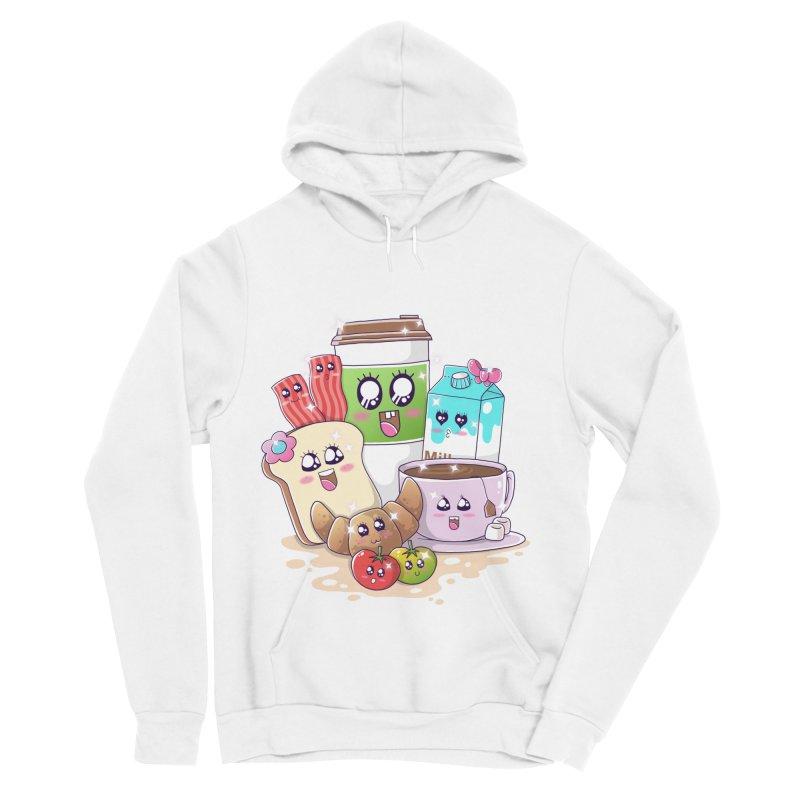 Kawaii Breakfast Men's Sponge Fleece Pullover Hoody by godzillarge's Artist Shop