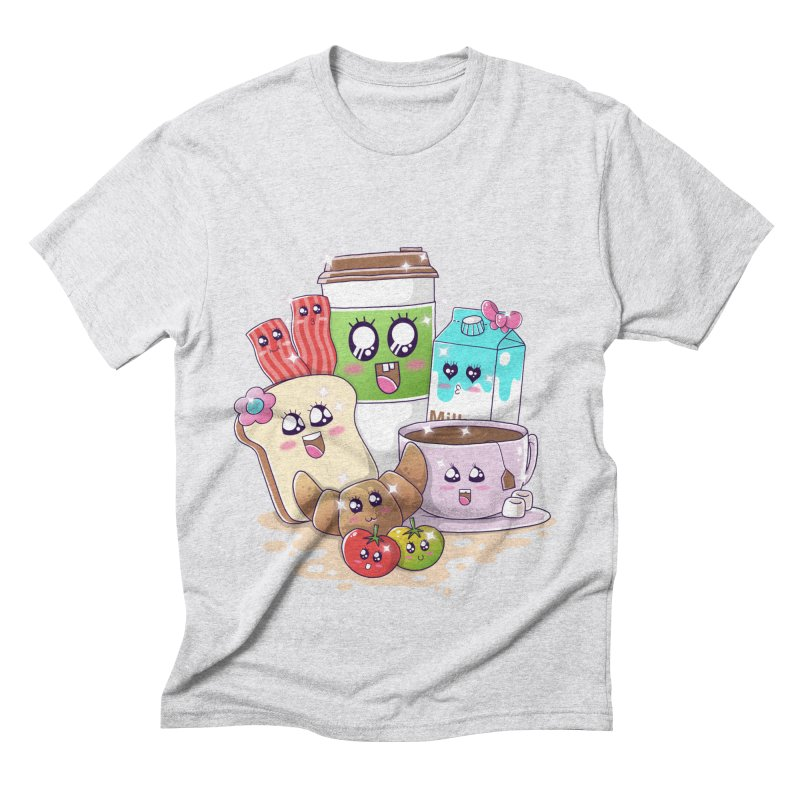 Kawaii Breakfast Men's Triblend T-Shirt by godzillarge's Artist Shop