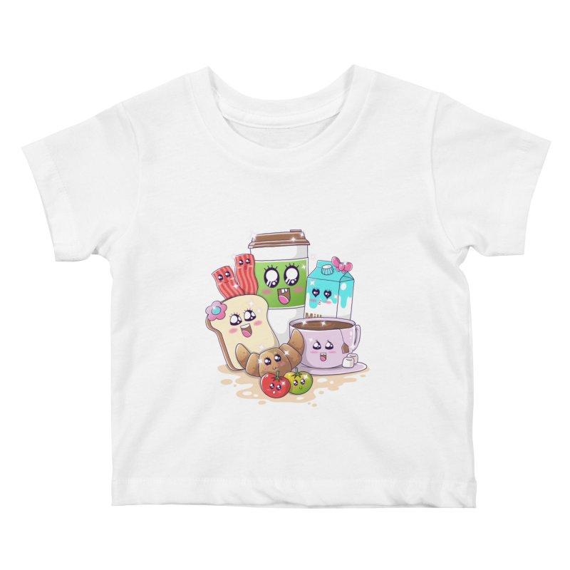 Kawaii Breakfast Kids Baby T-Shirt by godzillarge's Artist Shop