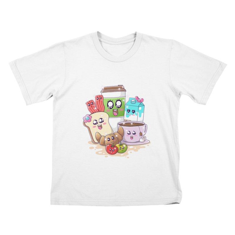 Kawaii Breakfast Kids T-Shirt by godzillarge's Artist Shop