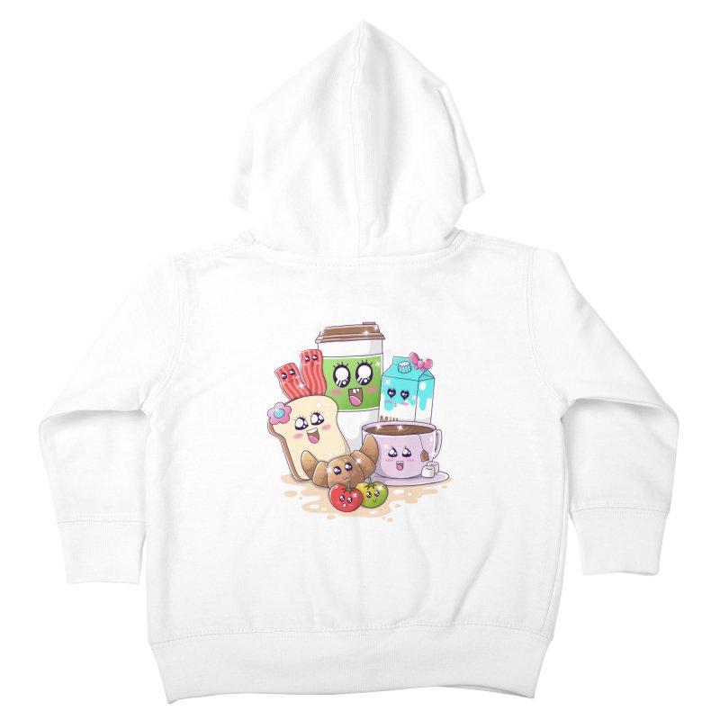 Kawaii Breakfast Kids Toddler Zip-Up Hoody by godzillarge's Artist Shop