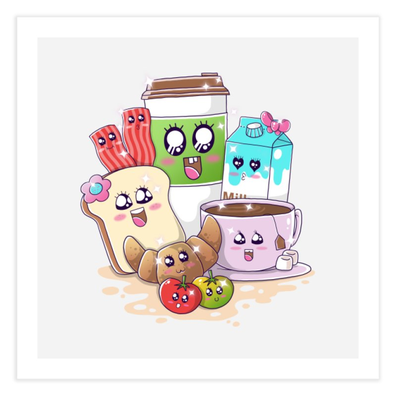 Kawaii Breakfast Home Fine Art Print by godzillarge's Artist Shop