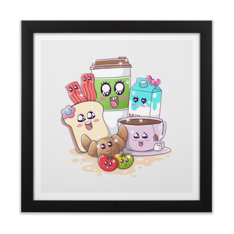Kawaii Breakfast Home Framed Fine Art Print by godzillarge's Artist Shop