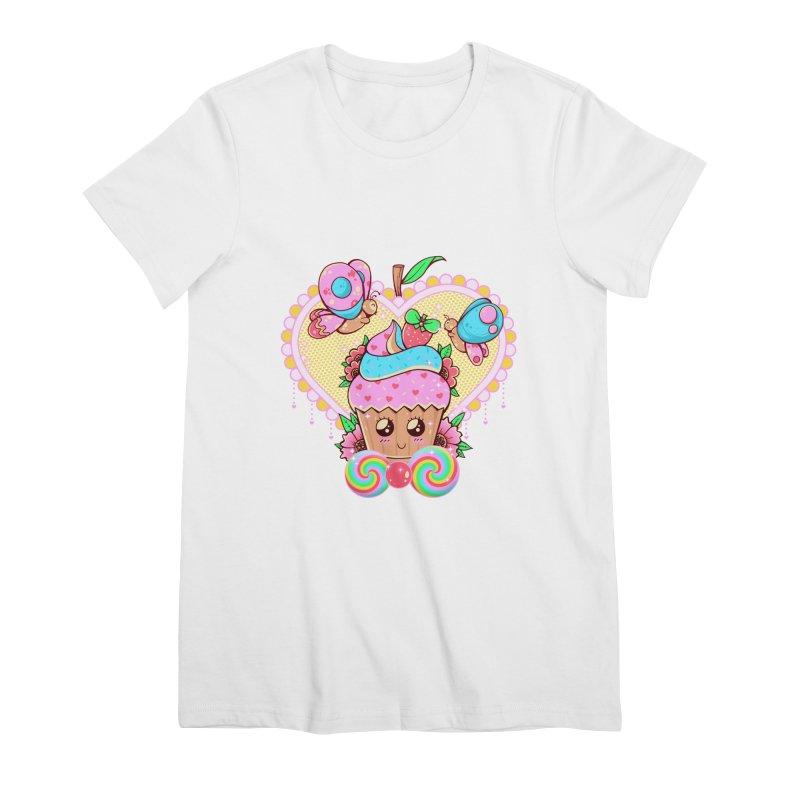 Kawaii Cupcake Women's Premium T-Shirt by godzillarge's Artist Shop