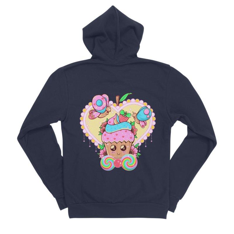 Kawaii Cupcake Men's Sponge Fleece Zip-Up Hoody by godzillarge's Artist Shop