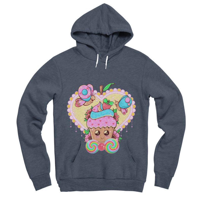 Kawaii Cupcake Men's Sponge Fleece Pullover Hoody by godzillarge's Artist Shop