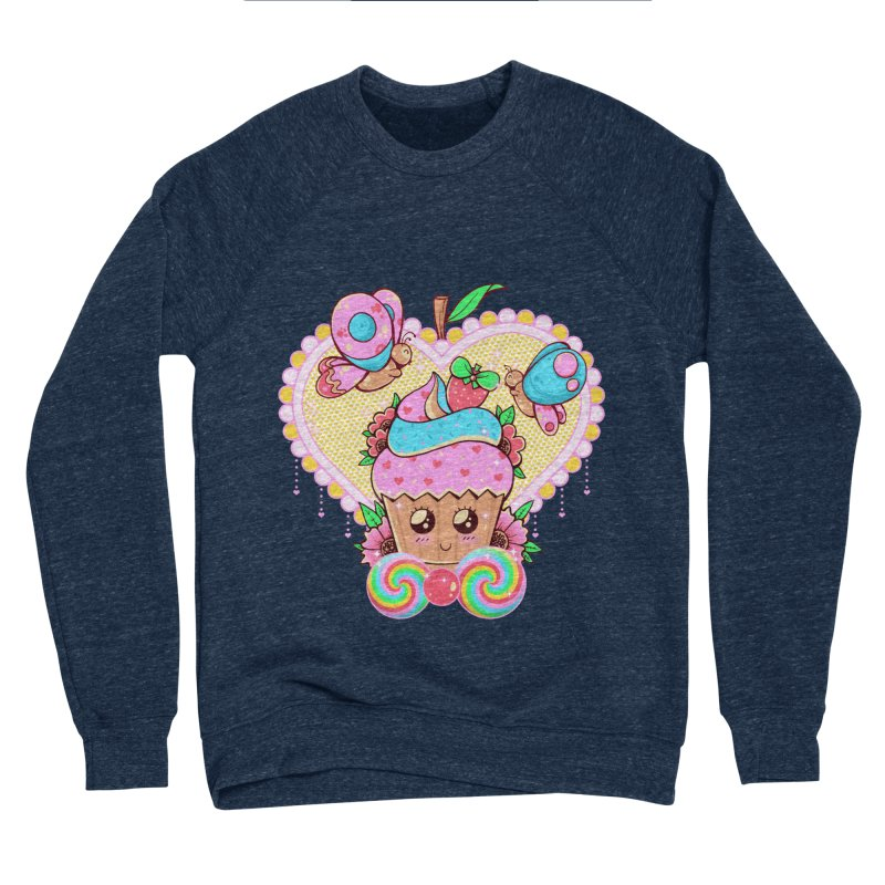 Kawaii Cupcake Women's Sponge Fleece Sweatshirt by godzillarge's Artist Shop