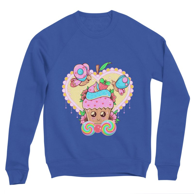 Kawaii Cupcake Men's Sponge Fleece Sweatshirt by godzillarge's Artist Shop