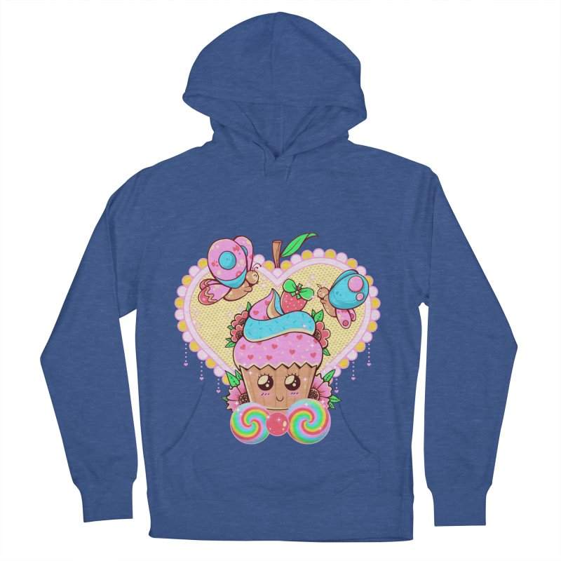 Kawaii Cupcake Women's French Terry Pullover Hoody by godzillarge's Artist Shop