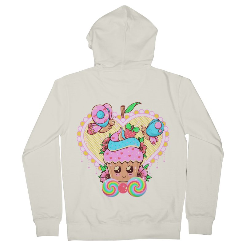 Kawaii Cupcake Women's French Terry Zip-Up Hoody by godzillarge's Artist Shop