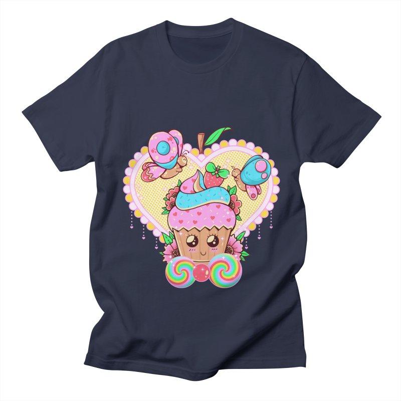 Kawaii Cupcake Women's Regular Unisex T-Shirt by godzillarge's Artist Shop
