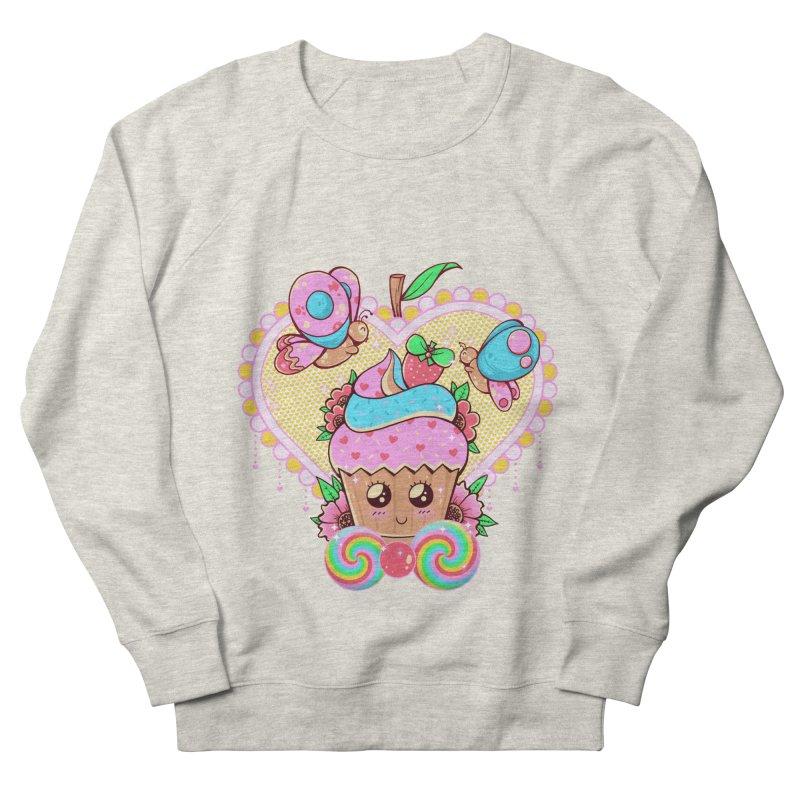 Kawaii Cupcake Men's French Terry Sweatshirt by godzillarge's Artist Shop