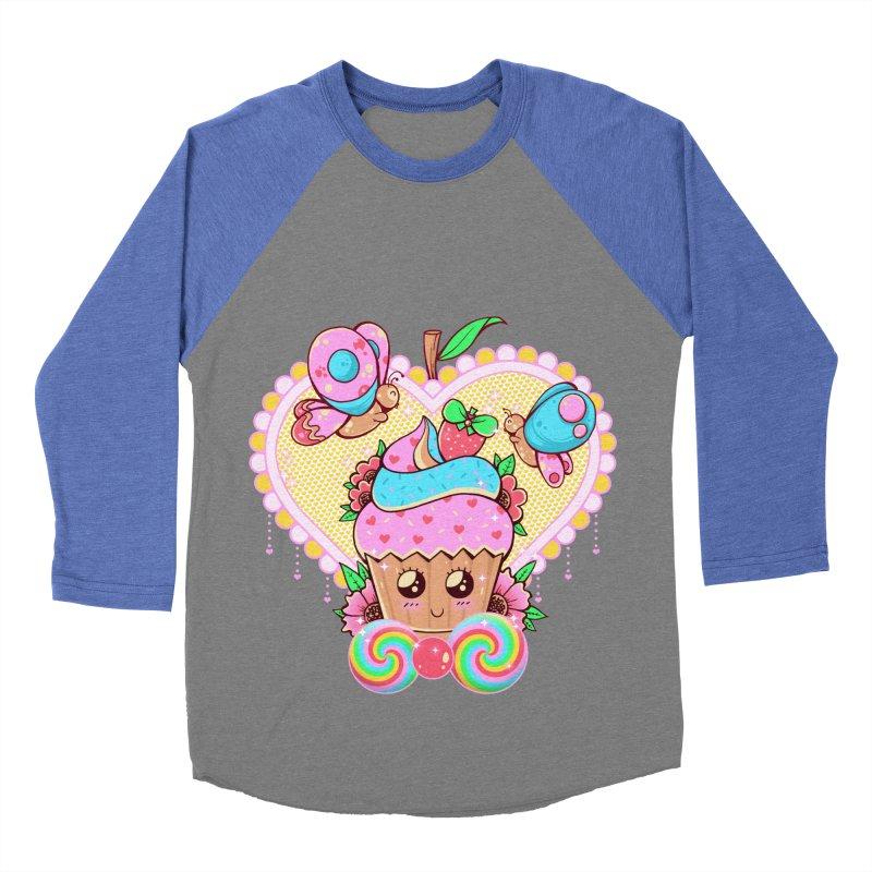 Kawaii Cupcake Women's Baseball Triblend Longsleeve T-Shirt by godzillarge's Artist Shop