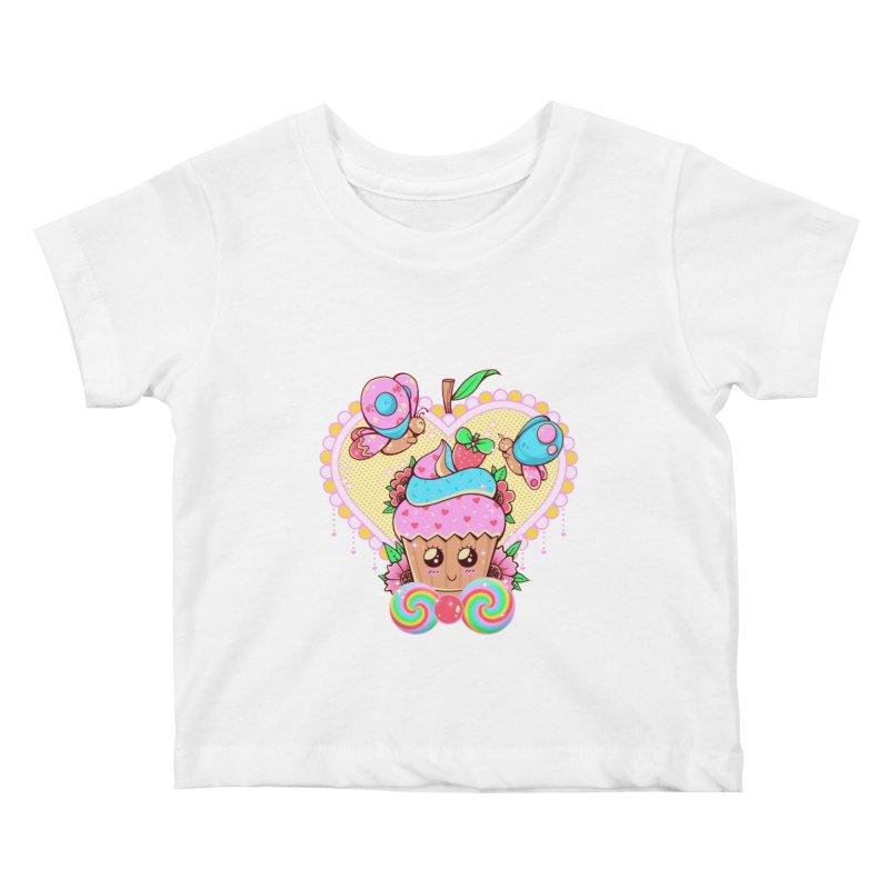 Kawaii Cupcake Kids Baby T-Shirt by godzillarge's Artist Shop