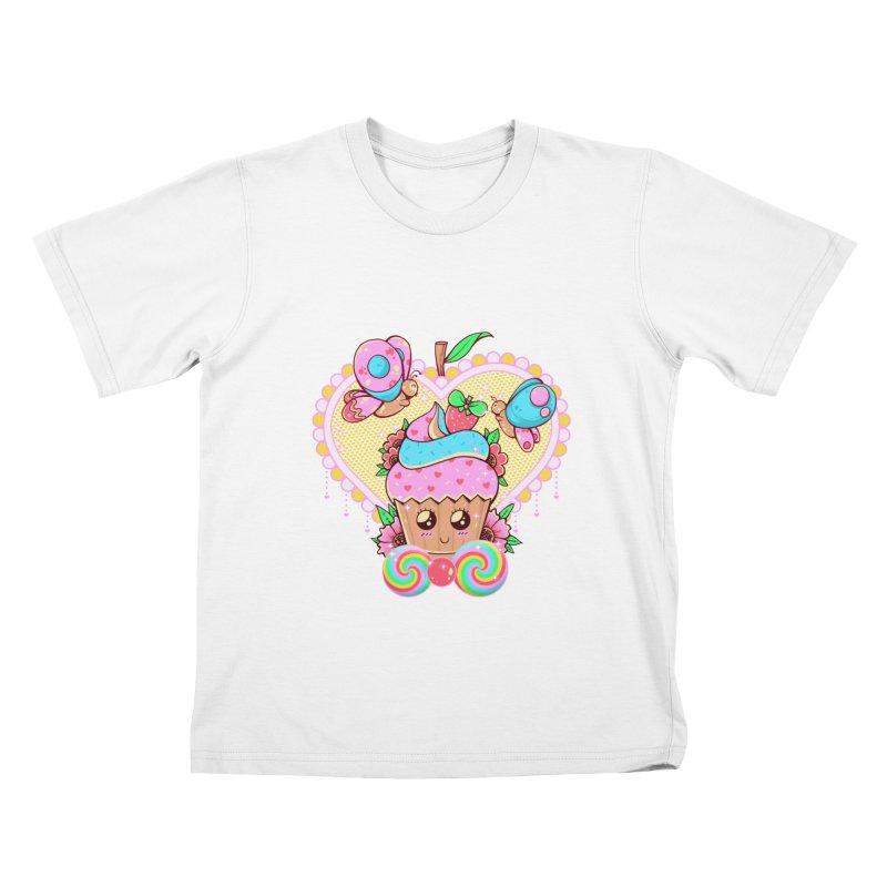 Kawaii Cupcake Kids T-Shirt by godzillarge's Artist Shop