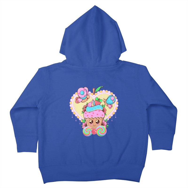 Kawaii Cupcake Kids Toddler Zip-Up Hoody by godzillarge's Artist Shop