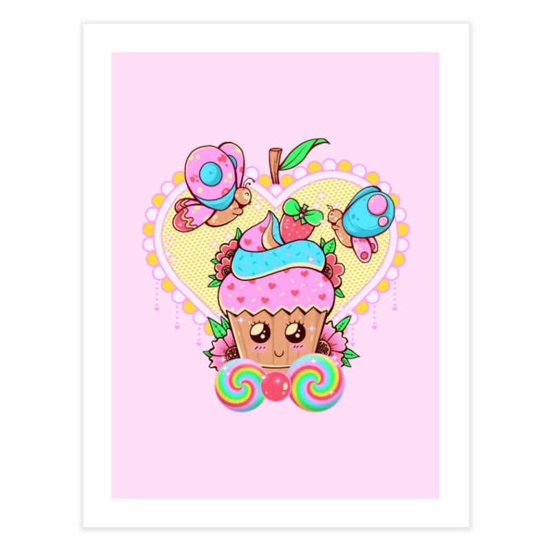 Kawaii Cupcake Home Fine Art Print by godzillarge's Artist Shop