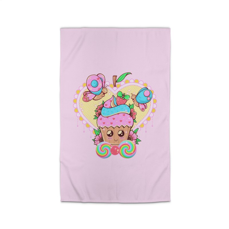 Kawaii Cupcake Home Rug by godzillarge's Artist Shop