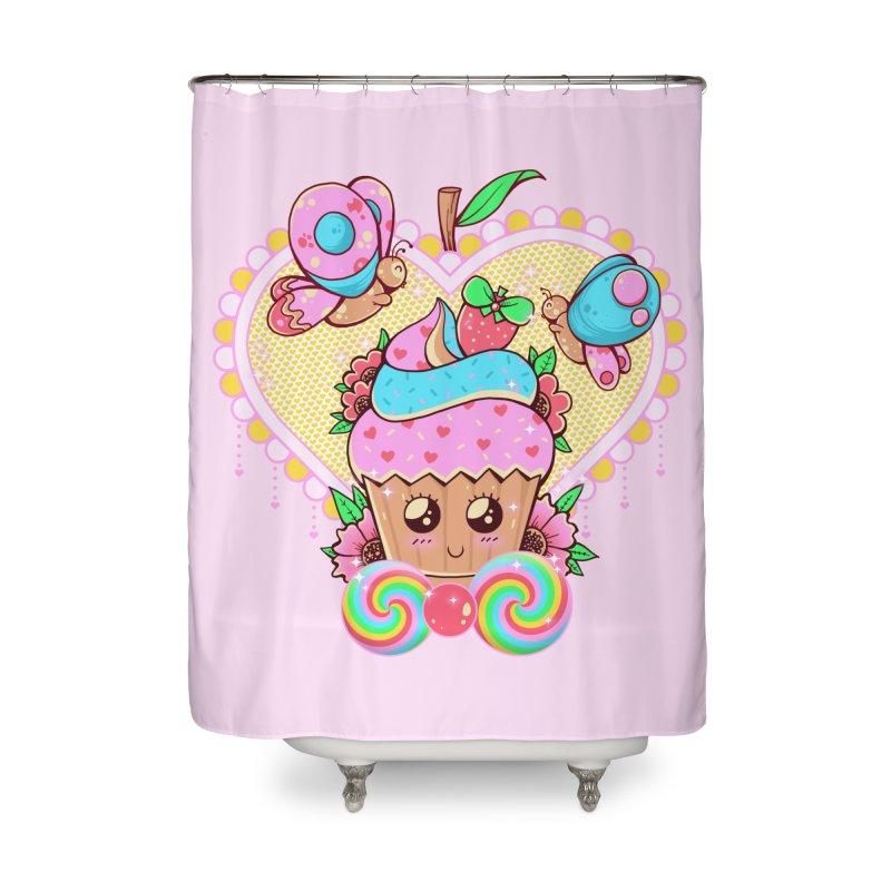 Kawaii Cupcake Home Shower Curtain by godzillarge's Artist Shop
