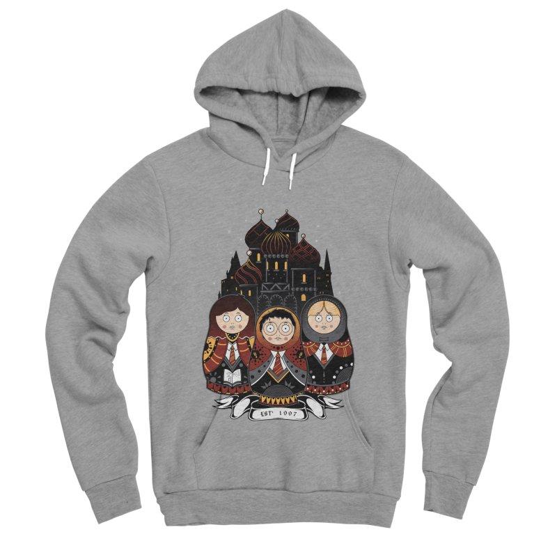 School of Wizardry Men's Sponge Fleece Pullover Hoody by godzillarge's Artist Shop