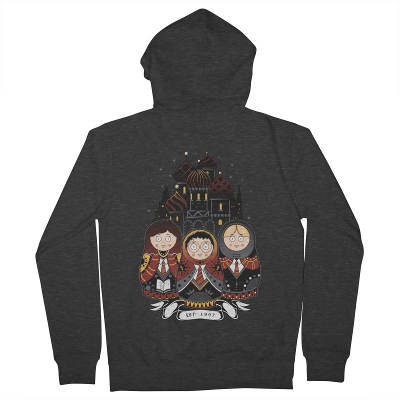 School of Wizardry Men's French Terry Zip-Up Hoody by godzillarge's Artist Shop