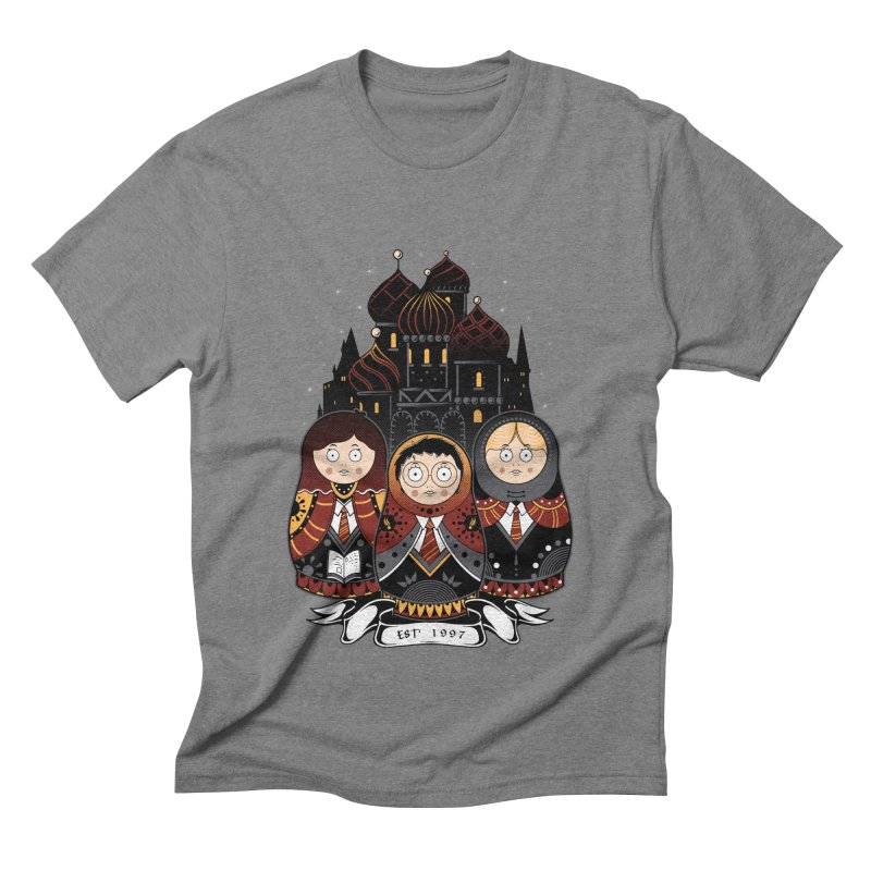 School of Wizardry Men's Triblend T-Shirt by godzillarge's Artist Shop