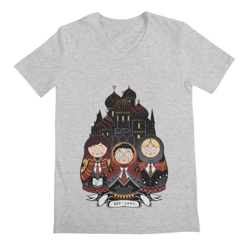 School of Wizardry Men's Regular V-Neck by godzillarge's Artist Shop