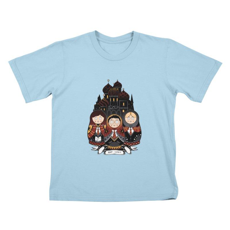School of Wizardry Kids T-Shirt by godzillarge's Artist Shop