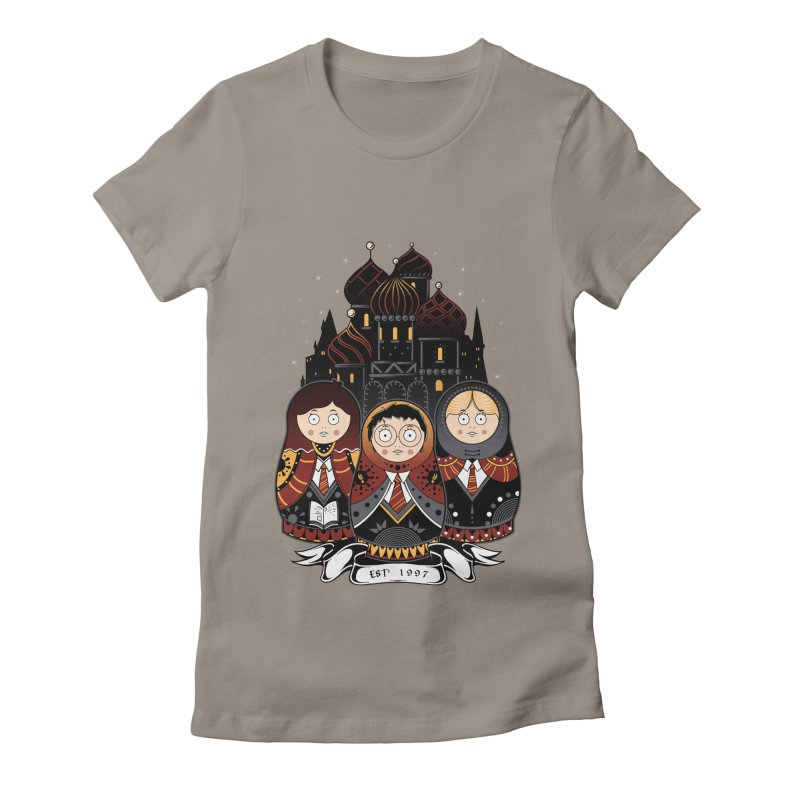 School of Wizardry Women's Fitted T-Shirt by godzillarge's Artist Shop