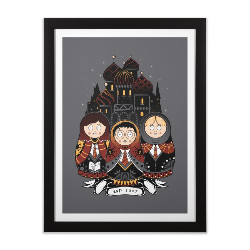 School of Wizardry Home Framed Fine Art Print by godzillarge's Artist Shop