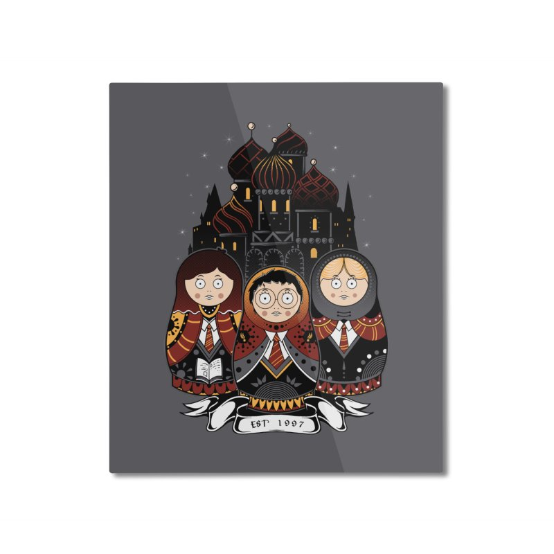 School of Wizardry Home Mounted Aluminum Print by godzillarge's Artist Shop
