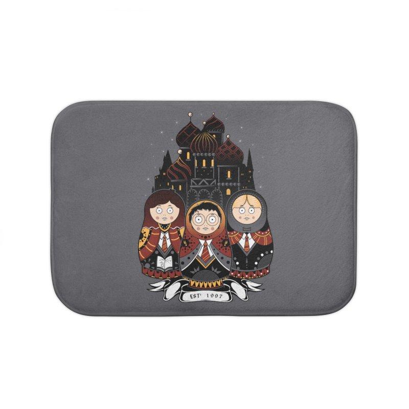 School of Wizardry Home Bath Mat by godzillarge's Artist Shop