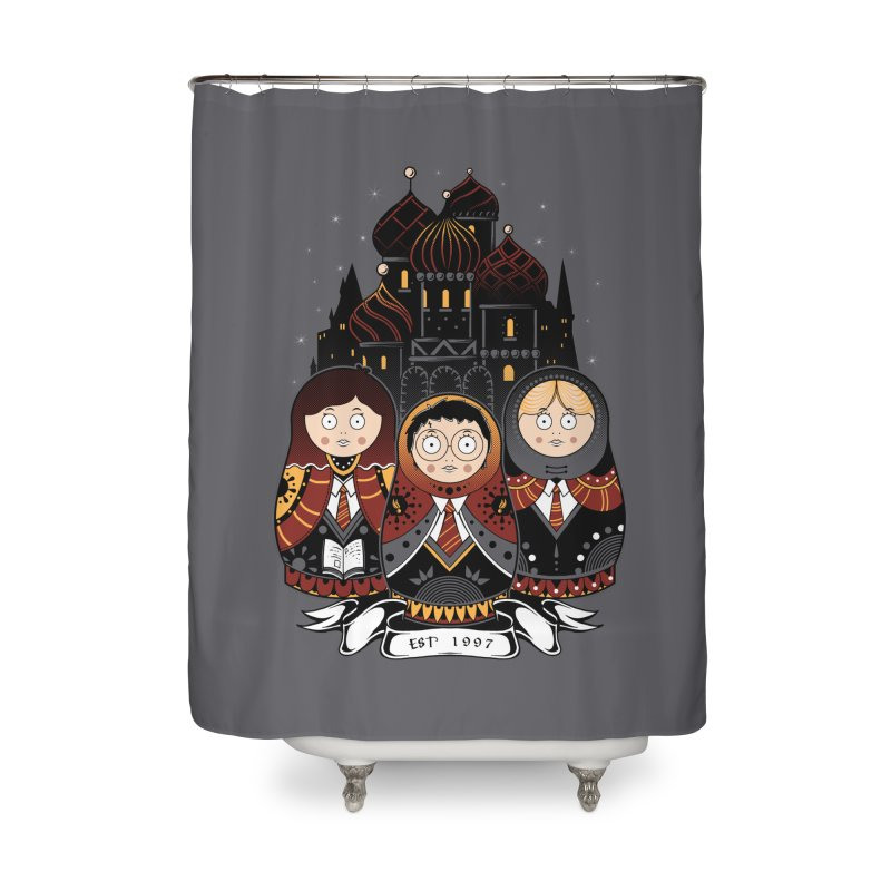School of Wizardry Home Shower Curtain by godzillarge's Artist Shop