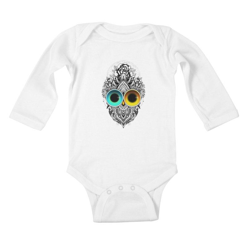 Eclipse Kids Baby Longsleeve Bodysuit by godzillarge's Artist Shop