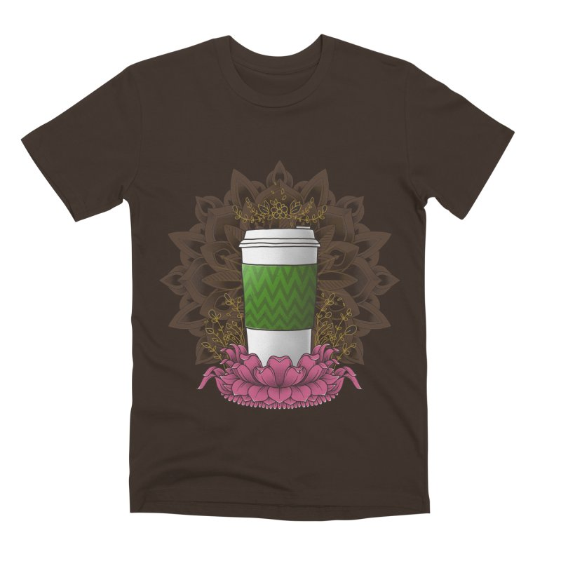 Autumn Latte Men's Premium T-Shirt by godzillarge's Artist Shop
