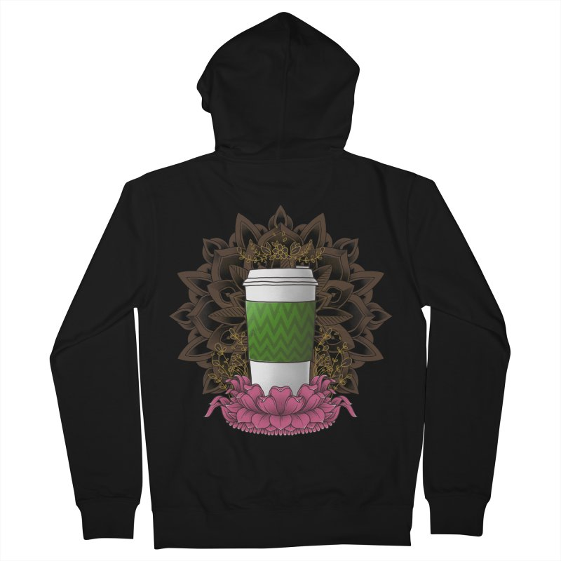 Autumn Latte Men's French Terry Zip-Up Hoody by godzillarge's Artist Shop