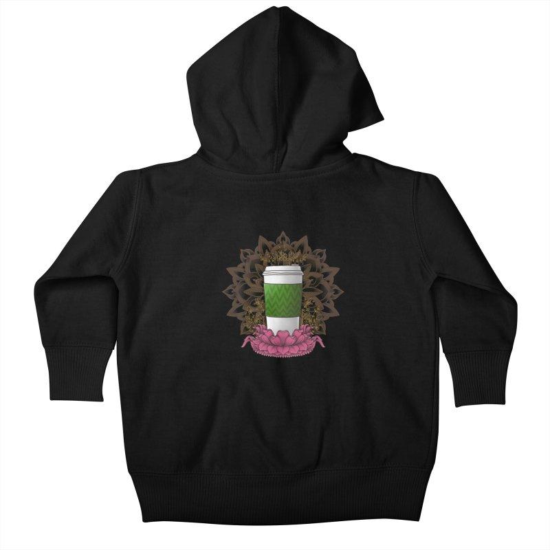Autumn Latte Kids Baby Zip-Up Hoody by godzillarge's Artist Shop