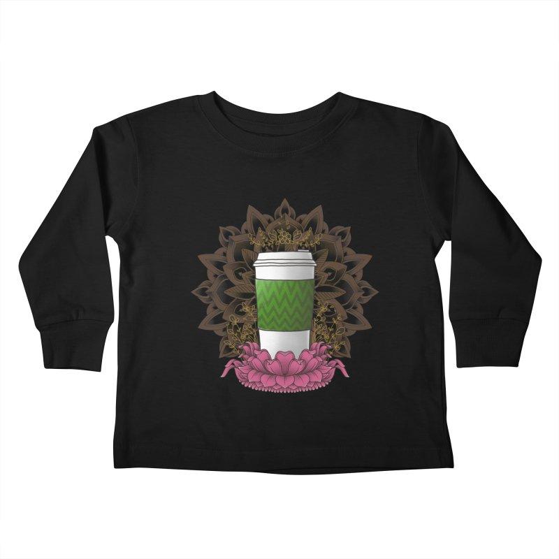 Autumn Latte Kids Toddler Longsleeve T-Shirt by godzillarge's Artist Shop