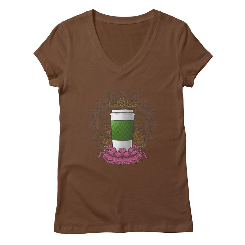 Autumn Latte Women's Regular V-Neck by godzillarge's Artist Shop